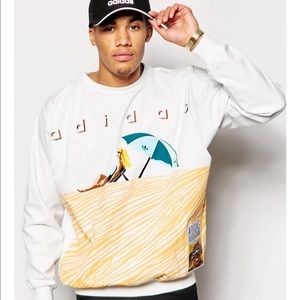 Adidas Originals Apparel Island Graph Sweatshirt M